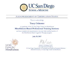 MBCT Certified Teacher